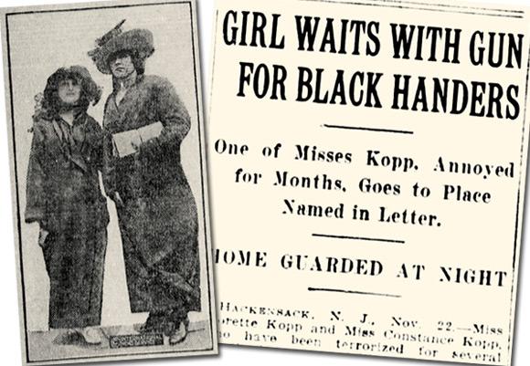 Zdjęcie Constance i Fleurette oraz artykuł w gazecie o ich sprawie