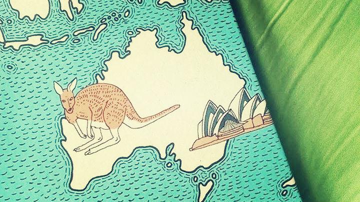australia, mapy, mizielińscy, dwie siostry